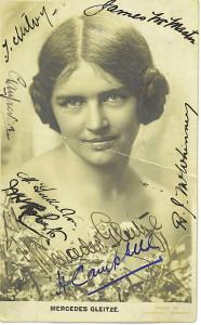 merceedes glitze last swim  25 aug 1928 signed photo