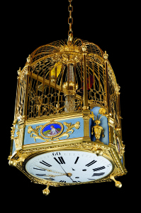 Cage with two singing birds a fountain and a mechanical organ  © 2011  FEMS Pully Switzerland Photography R_ Sterchi