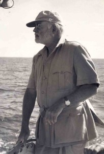 Ernest Hemingway in Cabo Blanco in May 1956