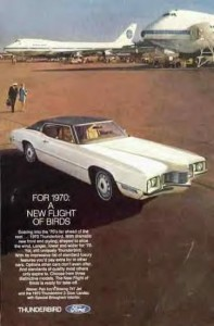 rg:adv pan am ford thunderbird 1970