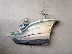Fishing Trawler, 2004 (175x185x16cm), bedrijfscollectie Rotterdam