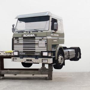 380HP, 2014 (194x164x12cm), studio