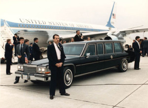 Limo1 is based on the Cadillac Fleetwood state car to Ronald Reagan in the early eighties