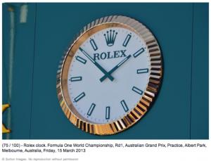 F1:Rolex:klok