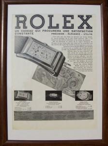 RoPr:rolex prince brancard werbung houten lijst