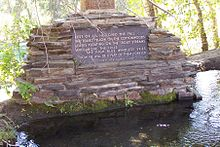 Hemingway Memorial in Trail Creek, noordelijk van Sun Valley, Idaho