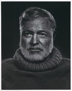 Hemingway photographed by Yousuf Karsh in 1957