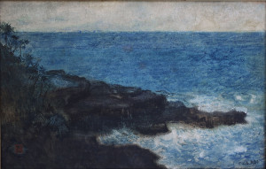 s51:cb Charles_W_Bartlett's_watercolor_and_ink_'Hana_Maui_Coast',_1920