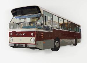 re stadsbus2007 183x112x14cm collectie Museum Rotterdam