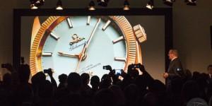 De presentatie van de Omega Globemaster op Baselworld 2015