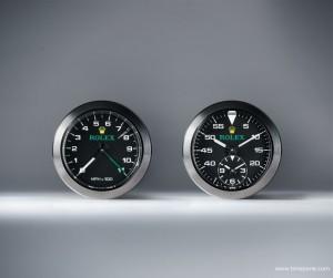 De twee precisie instrumenten die Rolex gemaakt heeft voor de cockpit van de Bloodhound