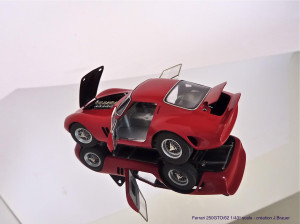JB 1962 250 GTO carrosserie rood kaal