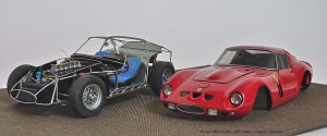 JB 1962 250 GTO carrosserie rood volledig chassis