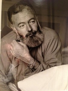 Ernest Hemingway with a Rolex, probably a Bubbleback from the 1940s
