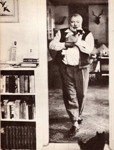 Hemingway's favourite shoes were loafers, he had racks full of them
