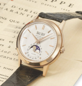 A very rare ref. 3448 in rose gold